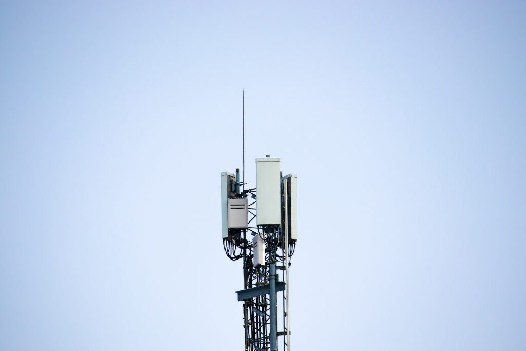 4G network mast used by mobile carriers.
