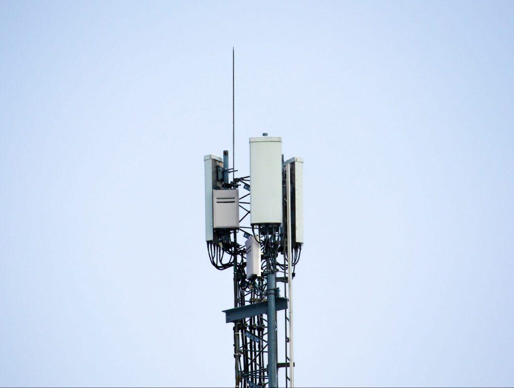5G network mast.