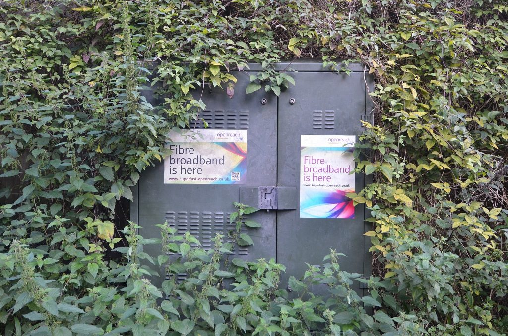 BT Openreach broadband cabinet.
