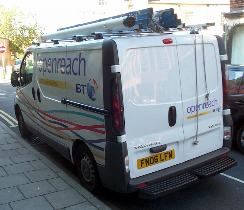A BT Openreach van.
