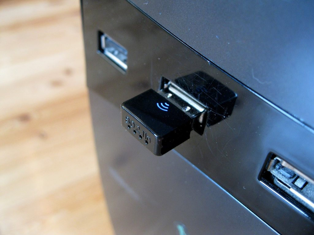 USB dongle in computer.