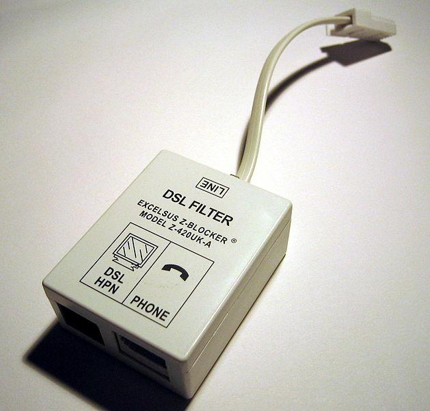 A DSL filter.
