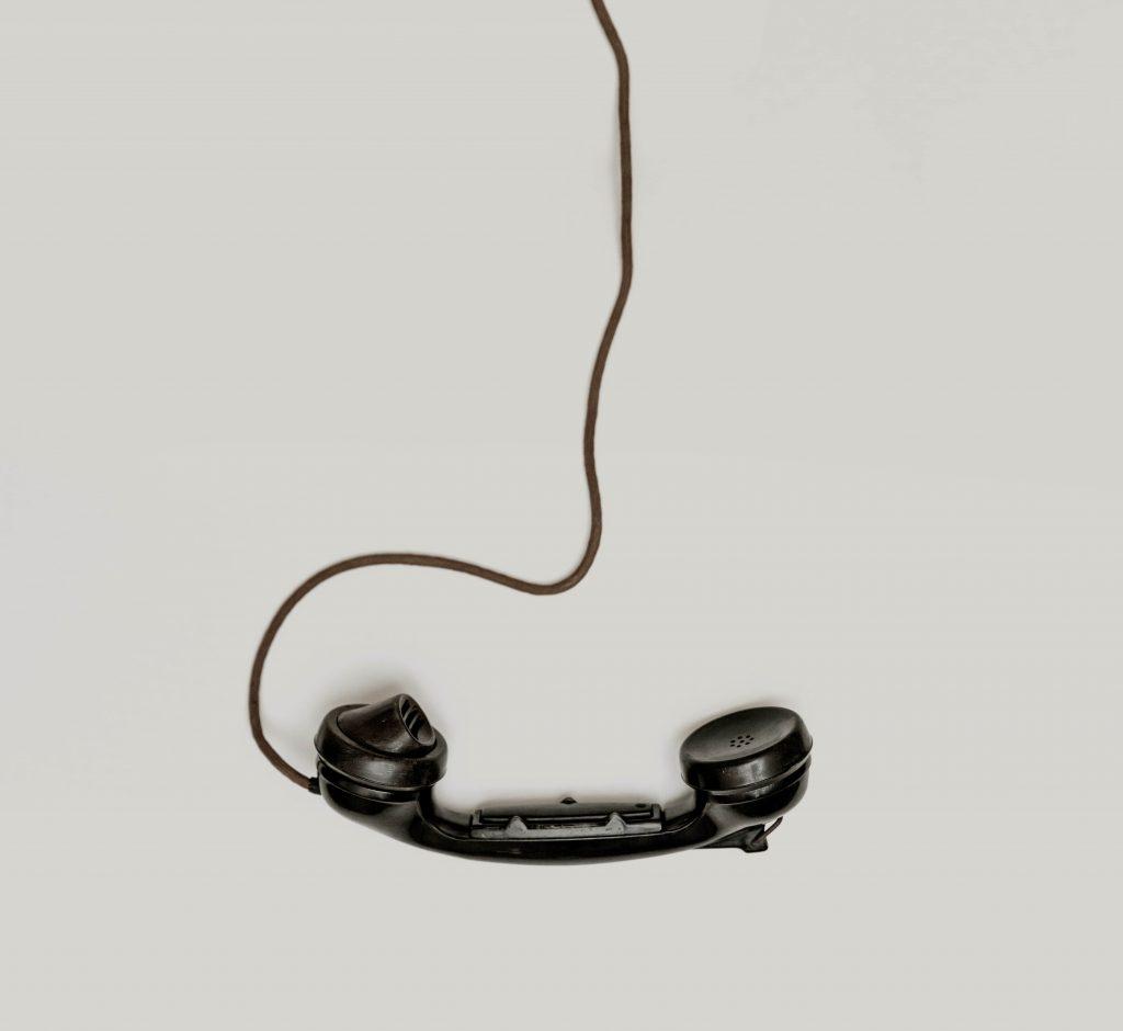 A home phone handset.