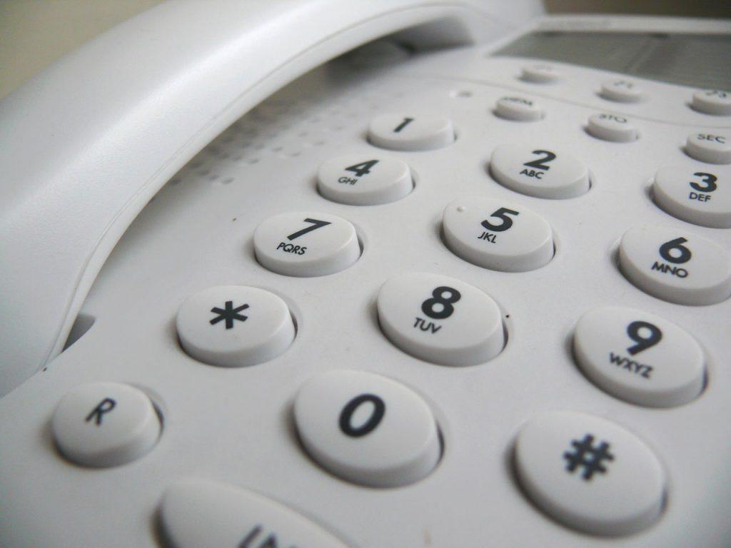 Landline phone keypad.