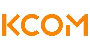 KCOM logo.