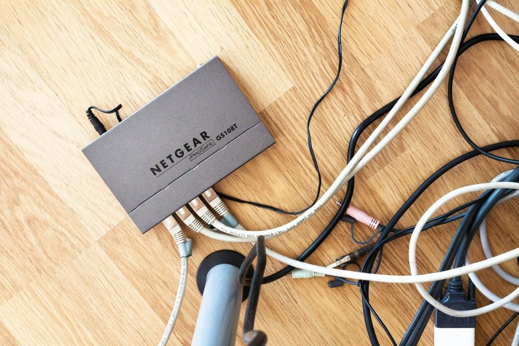 A Netgear wireless router.
