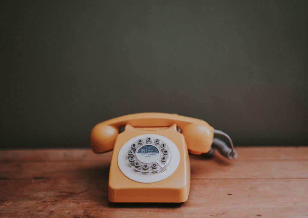 Old orange home phone.