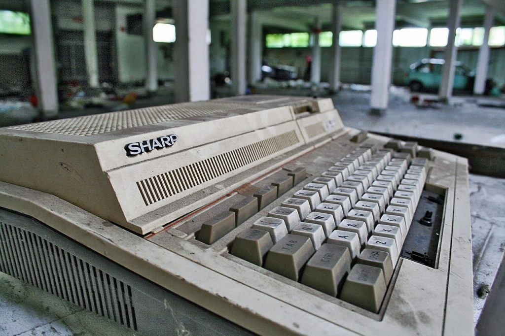 Old Sharp computer
