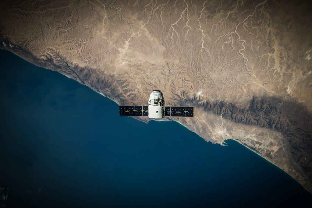 Satellite above Earth.