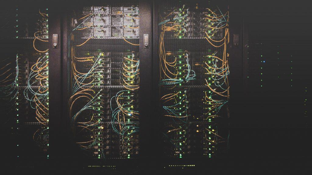 Server in a data centre.