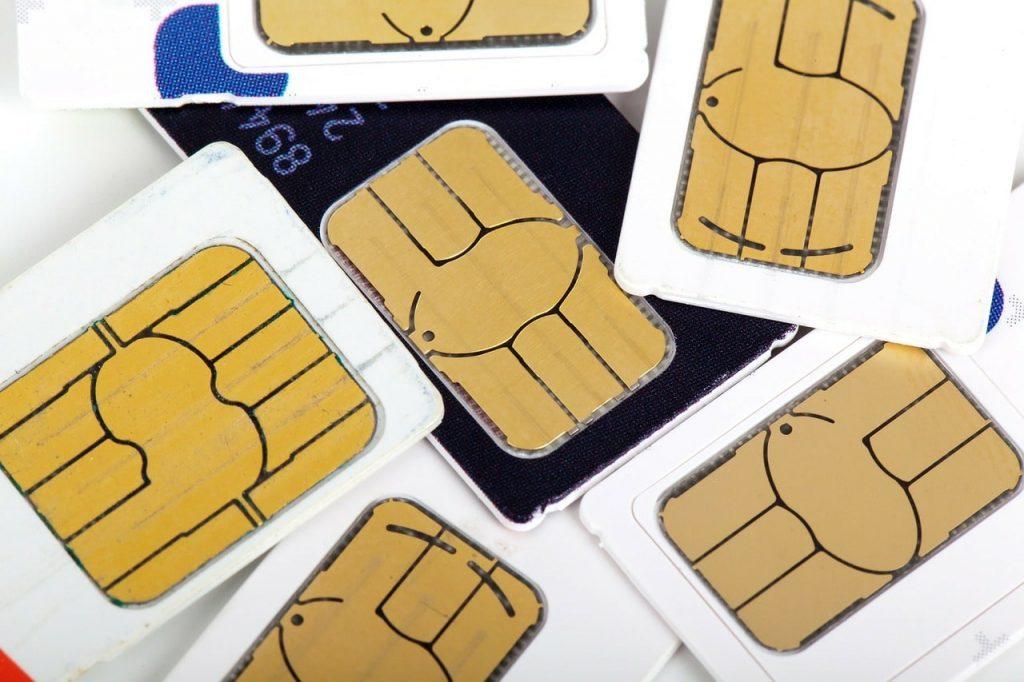 Mobile SIM cards.