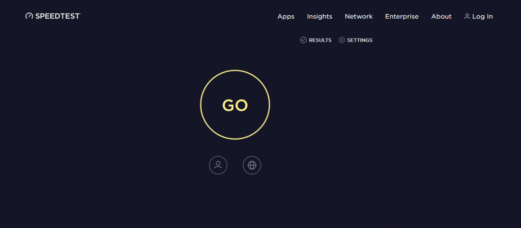 speedtest.net website.