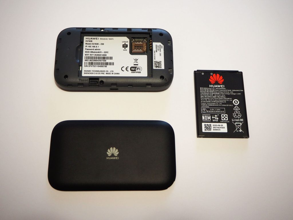 Three MiFi device with battery.