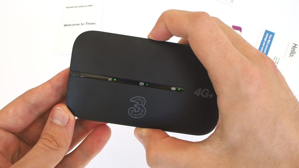 Three 4G Plus MiFi device.