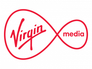 Virgin Media logo.