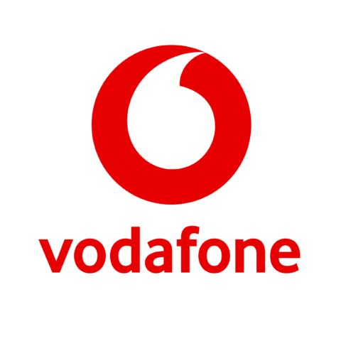 Vodafone logo.